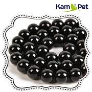 ČERNÁ PERLEŤ leštěné perly kuličky 8mm výběrové AA kvality přírodní, bal. 2ks