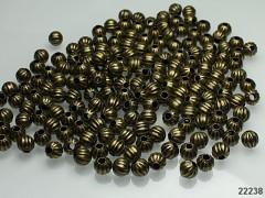 Bronzové korálky kovové kuličky 6mm, bal. 7g = cca 25ks