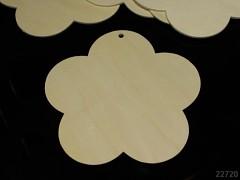 Přívěšek dřevěný k dekoraci květina 17cm, á 1ks