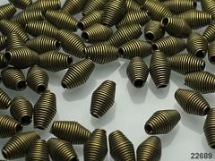 Bronzové kaplíky korálky spirály na korálky bal. 10ks