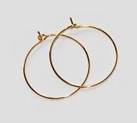 Zlaté náušnice kroužky 20mm náušnicový bižuterní komponenty