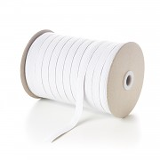 BÍLÁ plochá guma pruženka široká 15mm , 1 nebo 50m