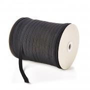 ČERNÁ plochá guma pruženka široká 15mm, 1 nebo 50m