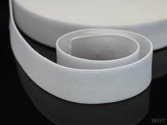 BÍLÁ plochá guma pruženka široká 25mm, 1 nebo 25m