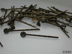 Vlasová spona s lůžkem 8mm - bronzová, bal. 5ks