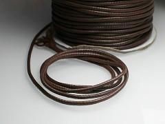 HNĚDÁ LUXUSNÍ voskovaná šňůrka 2mm bižuterní návlekový materiál, á 1m