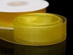 Žlutá stuha organzová 20mm organza stužka šifónová žlutá, svazek 3m