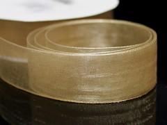 Krémová stuha organzová 20mm organza stužka šifónová krémová, svazek 3m