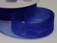 Modrá kobaltová stuha organzová 20mm organza stužka šifónová modrá nivea, svazek 3m