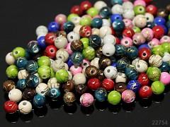 Pestrobarevný MIX korálky melír kuličky 6mm bal. 5g