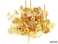 Zlaté náušnice puzety 11/6 náušnicový bižuterní komponenty