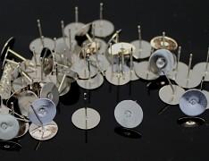 Platinové náušnice puzety 12/10 náušnicový bižuterní komponent bal. 10ks