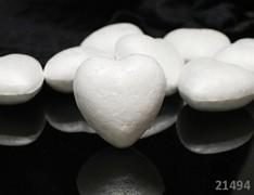 Polystyrénové srdce 5cm výlisek  polystyrénu 50mm, á 1ks