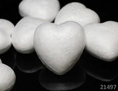Polystyrénové srdce 100mm výlisek z polystyrénu 10cm, á 1ks