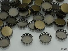 Bižuterní lůžko bronzové 10mm, bal. 4ks