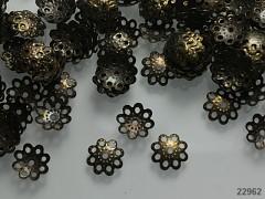 Kaplíky kytičky bronzové 10/2mm, bal. 4g