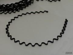 ČERNÁ čelenka do vlasů 4mm vlnka, á 1ks