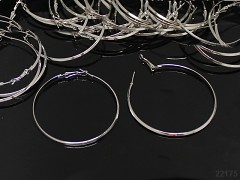 Platinové náušnice kroužky 61mm, bal. 2ks