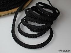 ČERNÁ guma pruženka krajka 5mm, á 1m