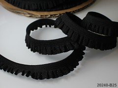 ČERNÁ guma pruženka krajka 15mm, á 1m