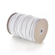 BÍLÁ guma kulatá klobouková 2mm pruženka, á 1m
