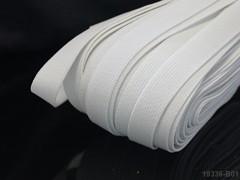 BÍLÁ guma tkaná prádlová 9mm pruženka, á 1m