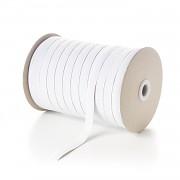 BÍLÁ plochá guma pruženka široká 10mm economy, 1 nebo 50m
