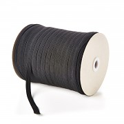 ČERNÁ plochá guma pruženka široká 10mm ekonomy, 1 nebo 50m