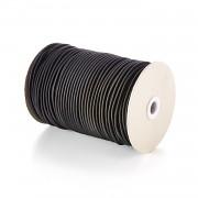 ČERNÁ guma kulatá klobouková 3mm pruženka, á 1m