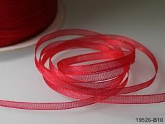 Červená stuha organzová 3mm organza stužka šifónová červená