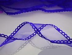 Modrá kobaltová stuha organzová /saténová 25mm organza stužka šifónová modrá nivea, á 1m
