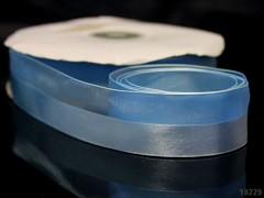 Modrá světle  stuha organzová /saténová 25mm organza stužka šifónová světle modrá, á 1m