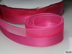 Růžová cyklám stuha organzová /saténová 25mm organza stužka šifónová magenta, á 1m