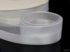 Bílá stuha organzová /saténová 25mm organza stužka šifónová bílá , á 1m