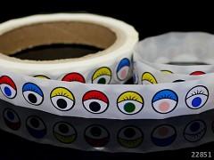 Dekorační oči 14mm samolepící BAREVNÉ, 1ks