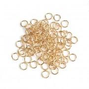 Bižu kroužky jednoduché  5mm ZLATÉ, bal. 2,5g