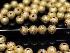 Zlaté korálky kovové kuličky 6mm, bal. 10ks