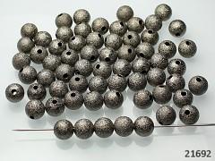Gunmetal korálky kovové kuličky 8mm, bal. 10ks