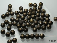 Bronzové korálky kovové kuličky 8mm, bal. 10ks