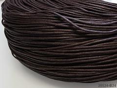HNĚDÁ voskovaná šňůrka 2mm bižuterní návlekový materiál, svazek 3m