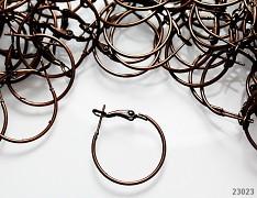 Měděné náušnice kroužky 25mm bižuterní komponenty, bal. 4ks