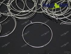 Platinové náušnice kroužky 45mm bižuterní komponenty bal. 4ks