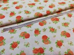 Látka bavlna růže patchwork plátno ATEST DĚTI,  á 1m