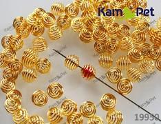 Zlatá klec na korálky 9mm spirála klece na korálky, bal. 10ks