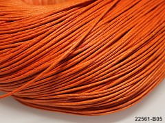 ORANŽOVÁ  voskovaná šňůrka 1,5mm bižuterní návlekový materiál, svazek 5m