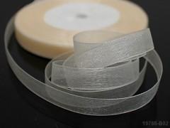 Smetanová stuha organzová 10mm organza stužka smetanová