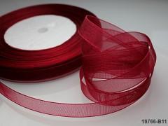 Bordó stuha organzová 10mm organza stužka bordó červená, á 1m