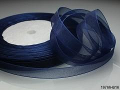Modrá tmavá stuha organzová 10mm organza stužka tmavě modrá
