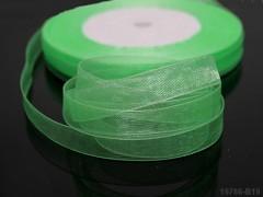 Zelená světlá stuha organzová 10mm organza stužka světle zelená