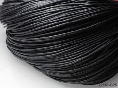ČERNÁ voskovaná šňůrka 1,5mm bižuterní návlekový materiál, svazek 5m